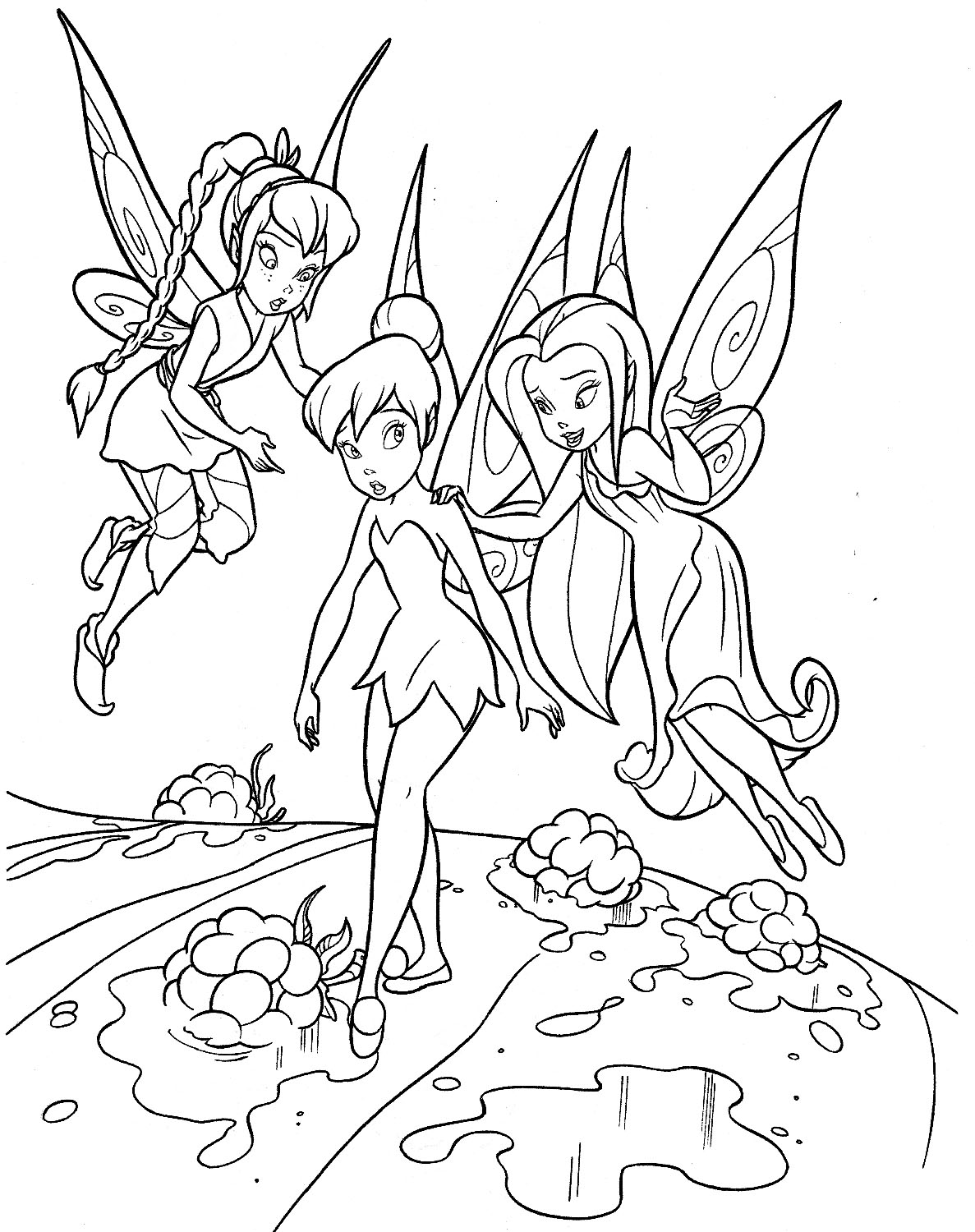 1187x1500 Tinkerbell Coloring Pages