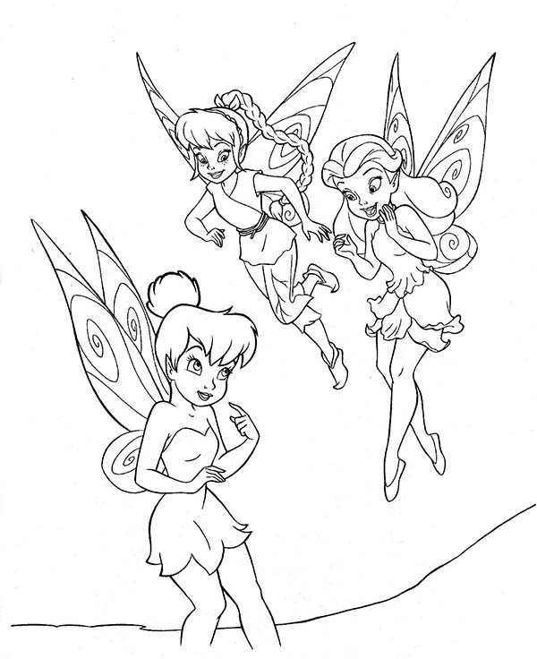 600x736 Tinkerbell And Friends Coloring Page