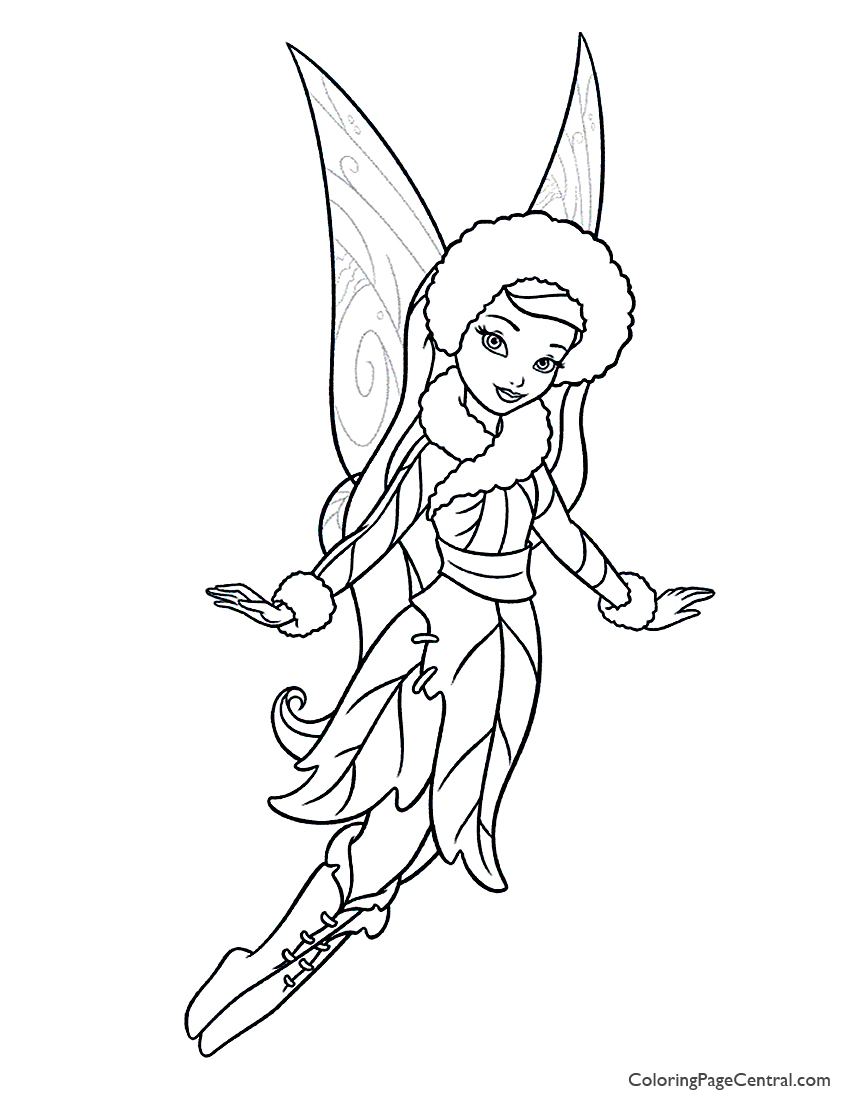850x1100 Tinkerbell Silvermist Coloring Page Coloring Page Central