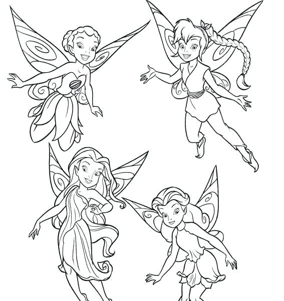 567x600 Tinkerbell And Friends Coloring Pages Tinkerbell And Friends