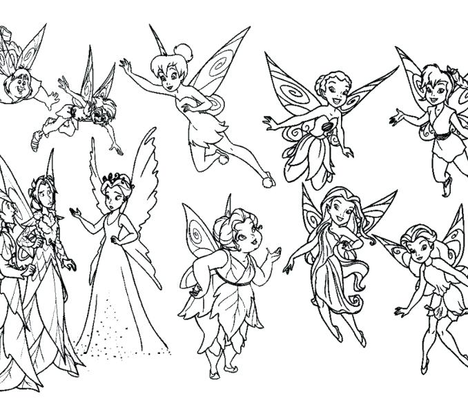 678x600 Tinkerbell Fairy Coloring Pages Coloring Pages Of And Her Fairy