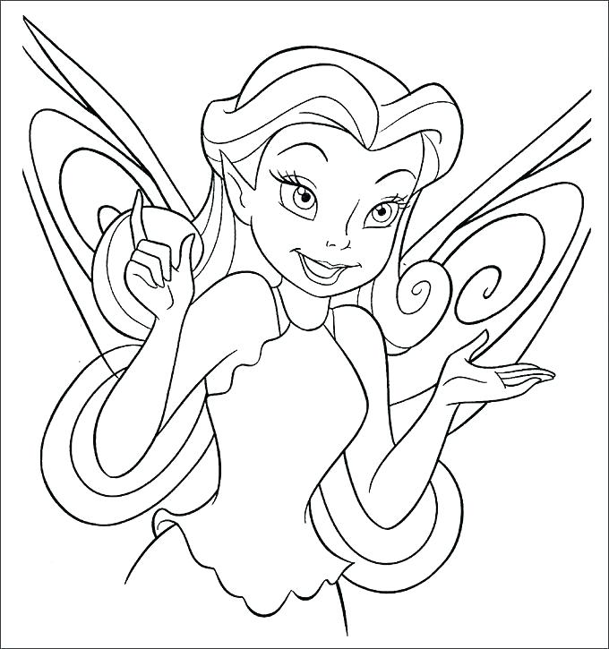 680x725 Tinkerbell Pirate Fairy Coloring Pages Free Beautiful Page