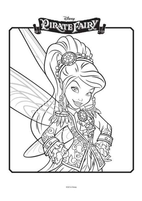 460x650 Tinkerbell And The Pirate Fairy Colouring