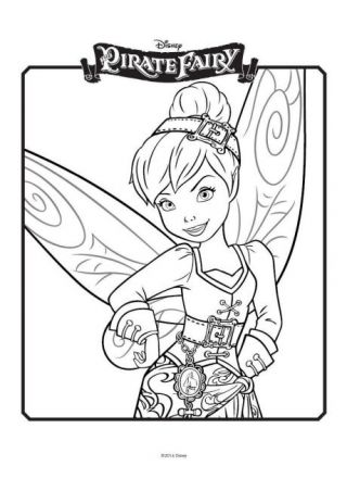 320x452 Tinkerbell And The Pirate Fairy Colouring Stuff
