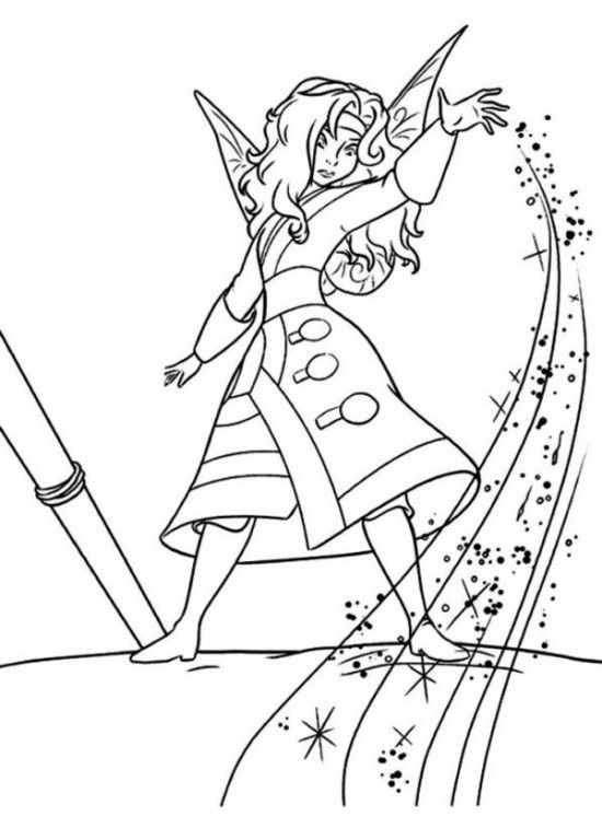 550x757 Tinkerbell En De Piraten New Tinkerbell Pirate Fairy Coloring