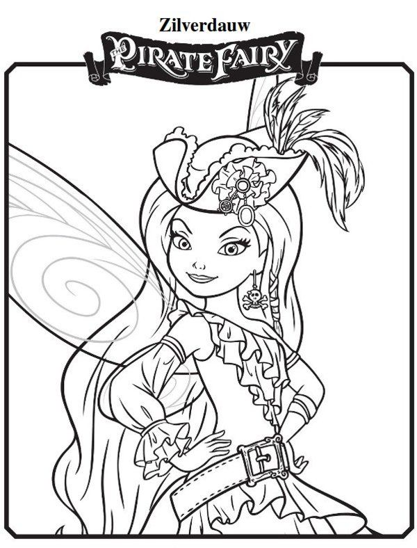 600x788 Zilverdauw New Tinkerbell Pirate Fairy Coloring Pages