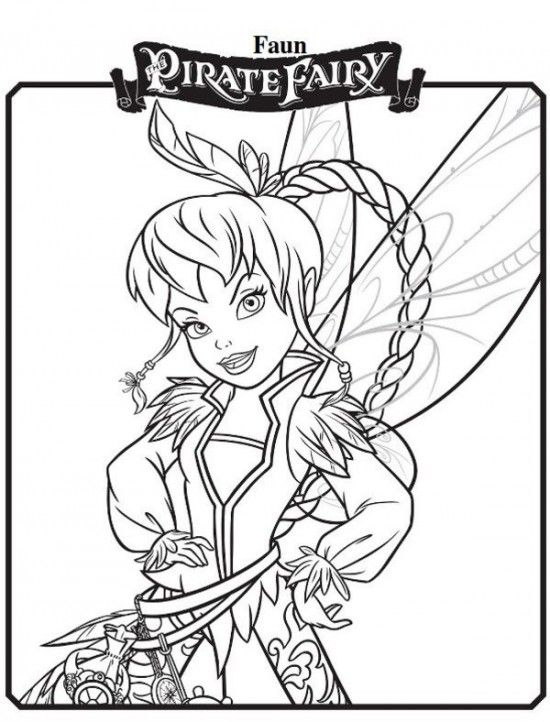 550x722 Faun New Tinkerbell Pirate Fairy Coloring Pages Picture