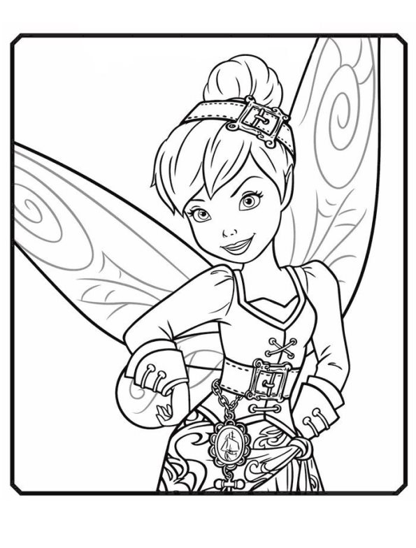 595x784 Kids N Coloring Pages Of Tinkelbell Pirate Fairy
