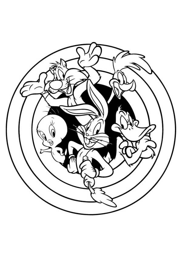 Free Printable Looney Tunes Coloring Pages - Coloring Home | 849x600