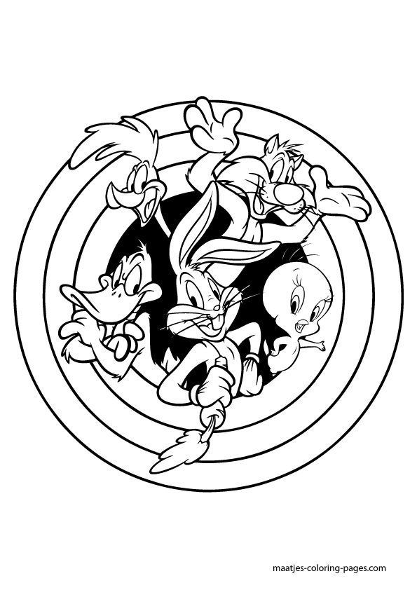 595x842 Looney Tunes Coloring Pages Looney Tunes Coloring Pages