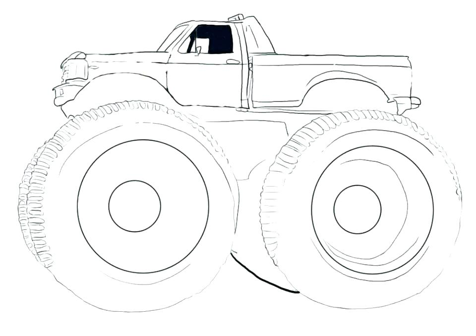 960x679 Monster Truck Coloring Page Monster Jam Monster Truck Coloring