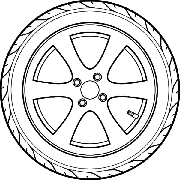 600x627 Tire Coloring Pages