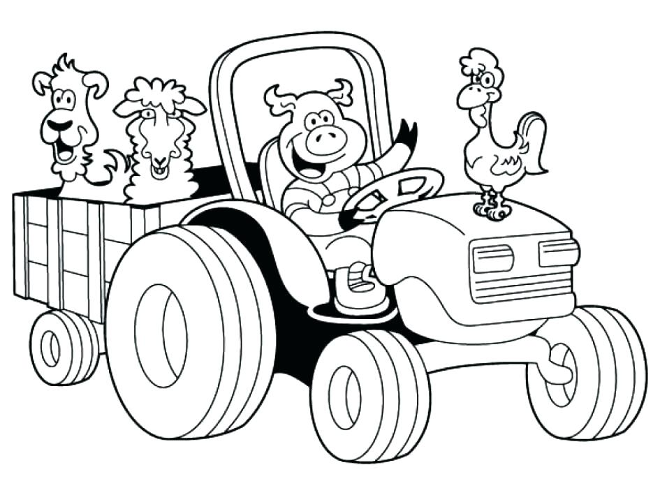 945x709 Free Farm Coloring Pages
