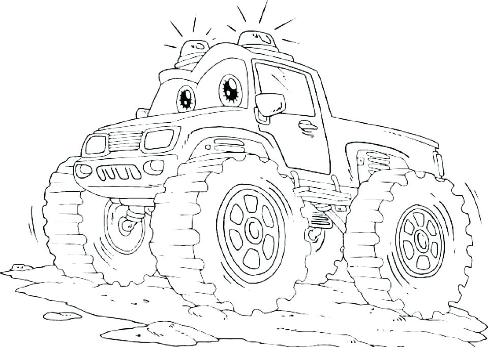 960x684 Monster Trucks Coloring Pages