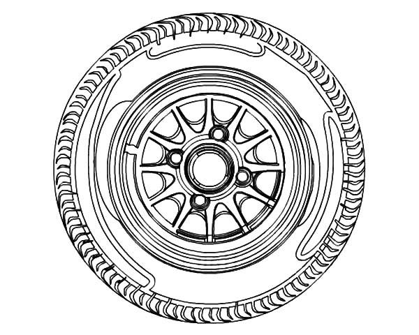 600x480 Car Tire Rim Coloring Pages Best Place To Color