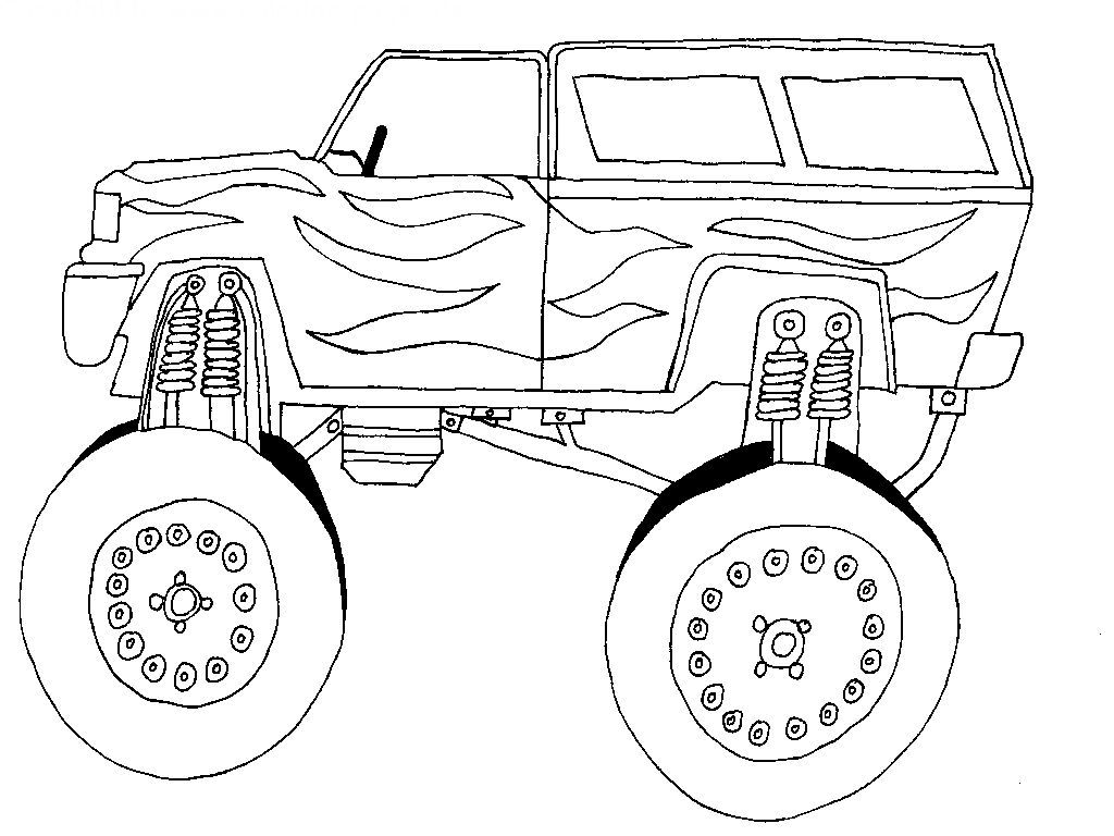 1024x768 Cars With Large Tires Cars Coloring Pages Kids Net