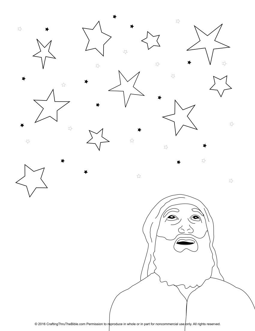 850x1100 Coloring Page Of Abraham Looking