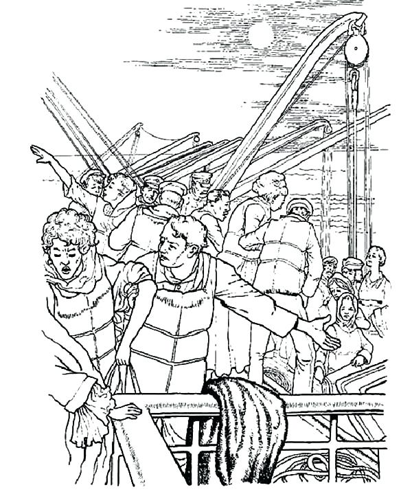 600x719 Titanic Coloring Page Panic Attack On Titanic Coloring Pages