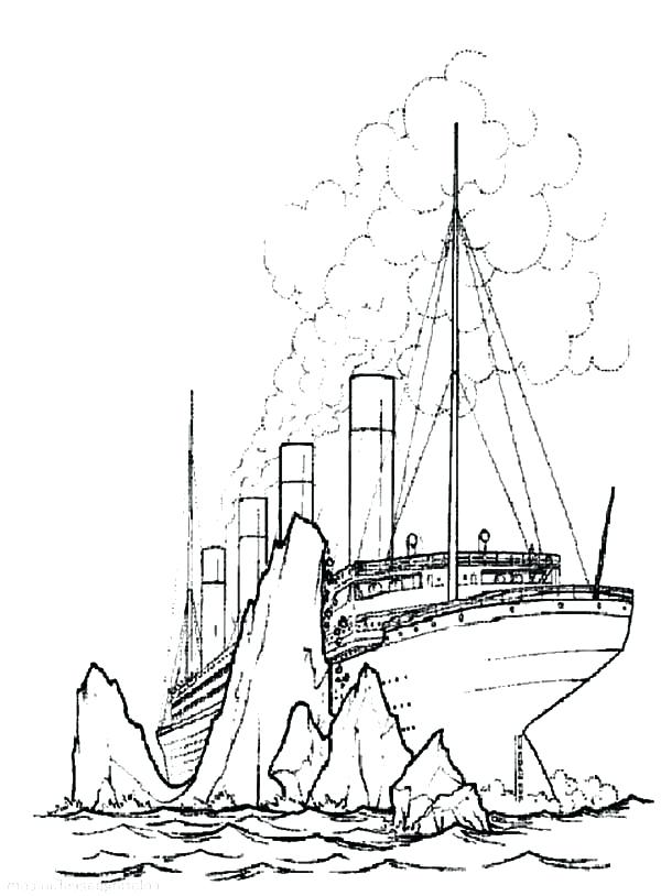 600x814 Titanic Coloring Page Titanic Coloring Pages Titanic Coloring