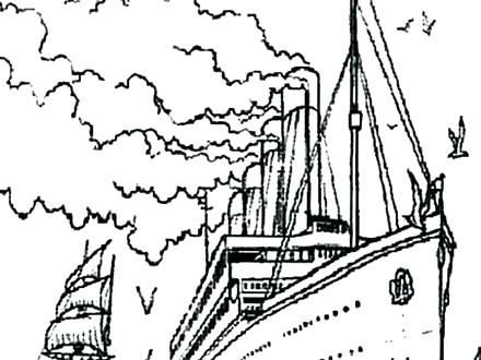 440x330 Titanic Coloring Pages Titanic Coloring Page Titanic Coloring