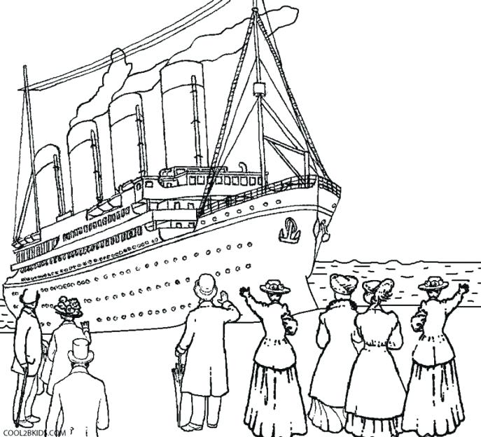 687x624 Coloring Titanic Coloring Pages Printable For Kids Lego Titanic