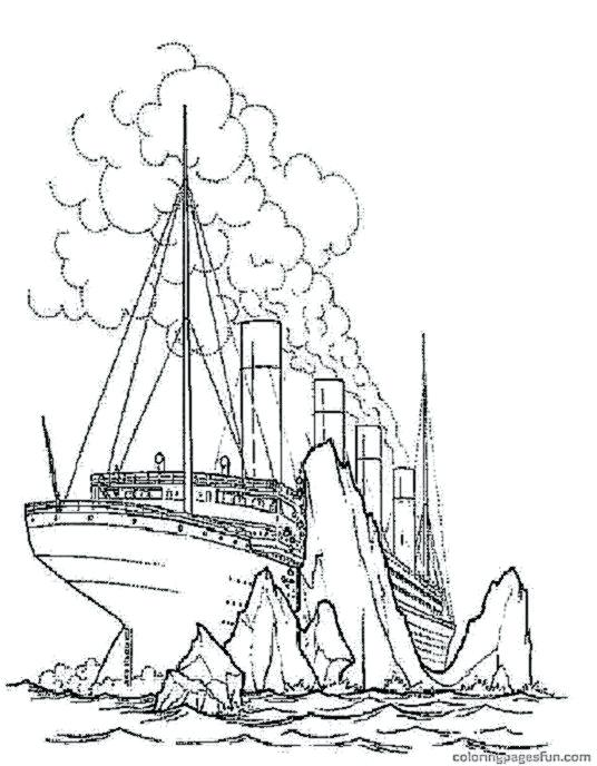 536x688 Coloring Pages Of The Titanic