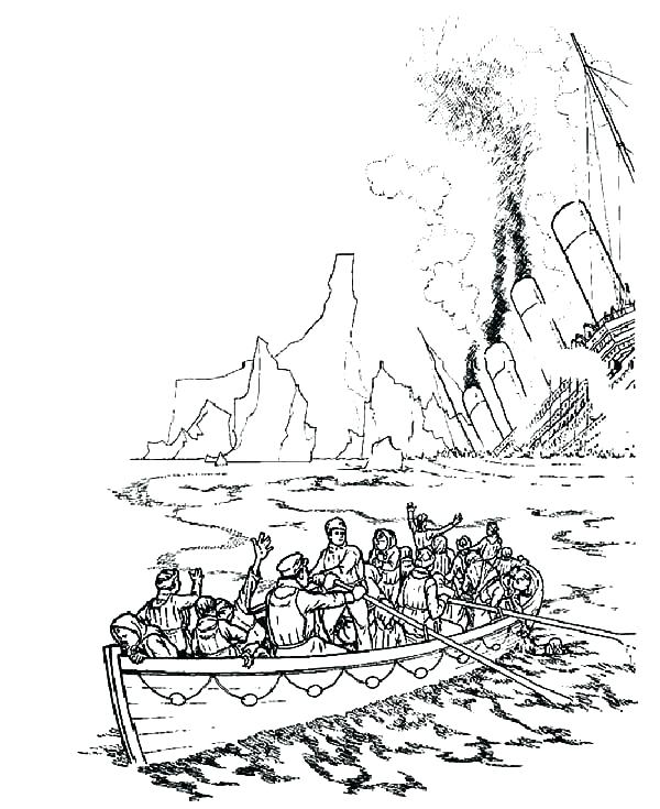600x735 Coloring Pages Titanic Colouring Pages To Print
