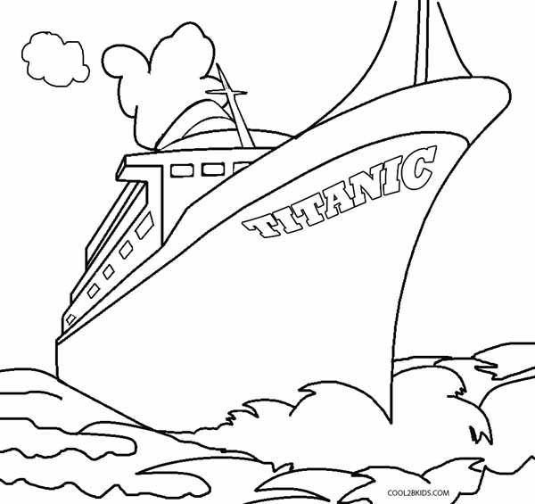 600x565 Printable Titanic Coloring Pages For Kids