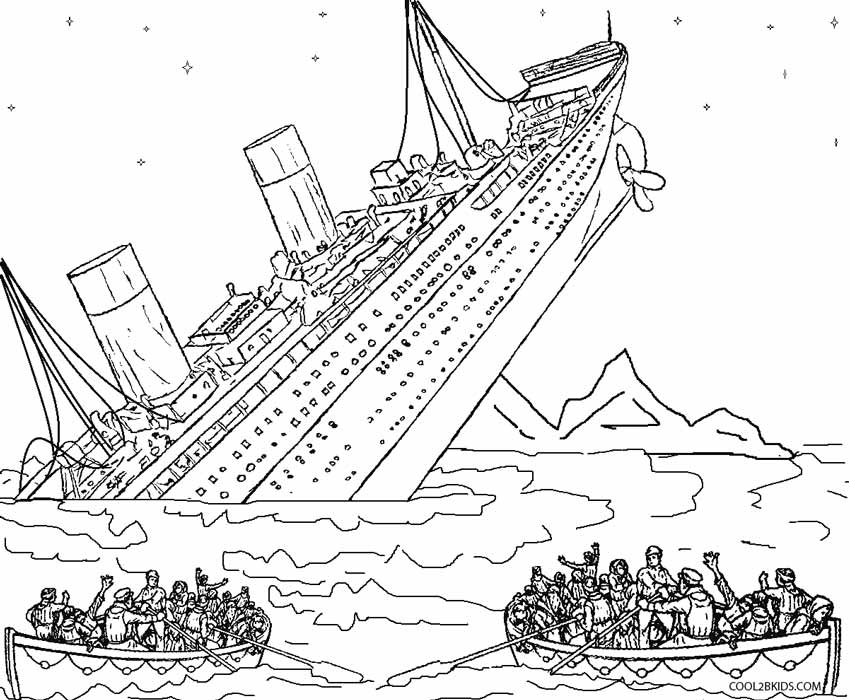 850x700 Shipwreck Coloring Pages Printable Titanic Coloring Pages For Kids