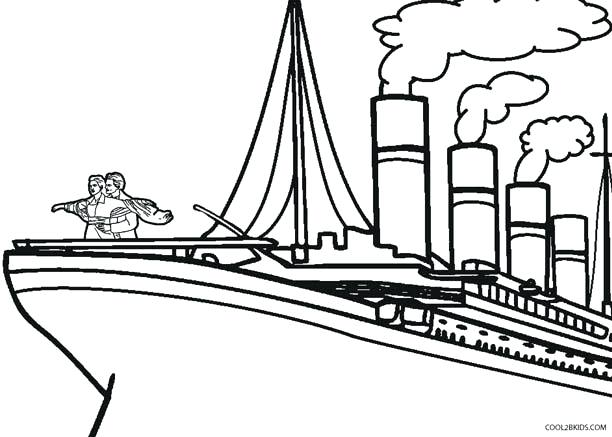 The best free Titanic coloring page images. Download from ...