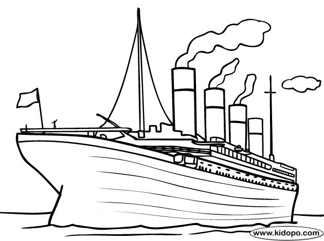 Titanic Ship Coloring Pages