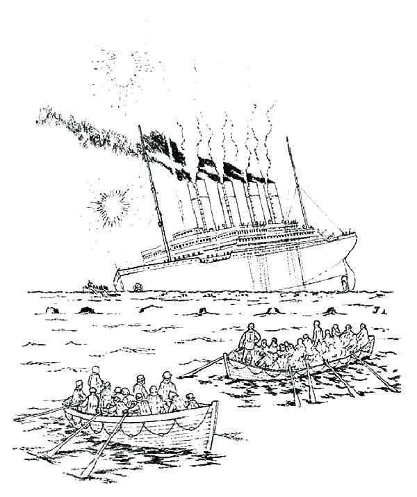 600x715 Titanic Coloring Page Cruise Ship Coloring Pages Titanic The Royal