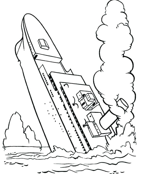 600x734 Titanic Coloring Pages Picture Of Titanic Coloring Pages Titanic
