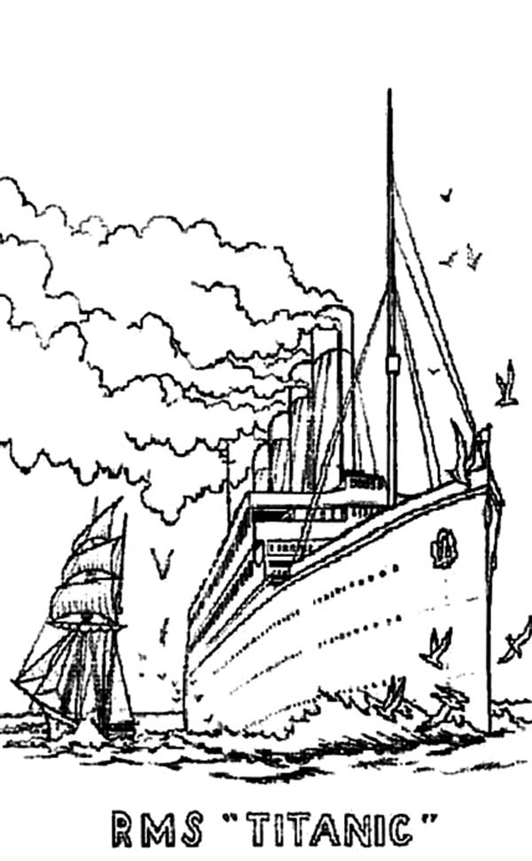 600x971 Titanic Star Line Coloring Pages Batch Coloring