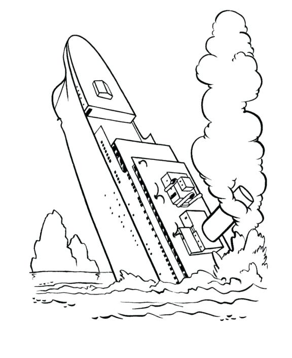 576x705 Titanic Coloring Pages