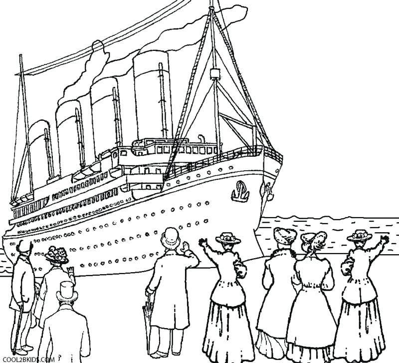 800x727 Cruise Ship Coloring Pages Free Titanic Coloring Pages