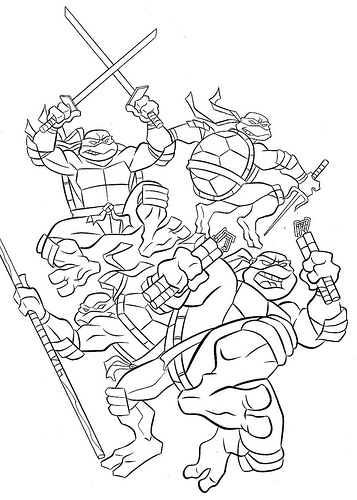Tmnt 2012 Coloring Pages