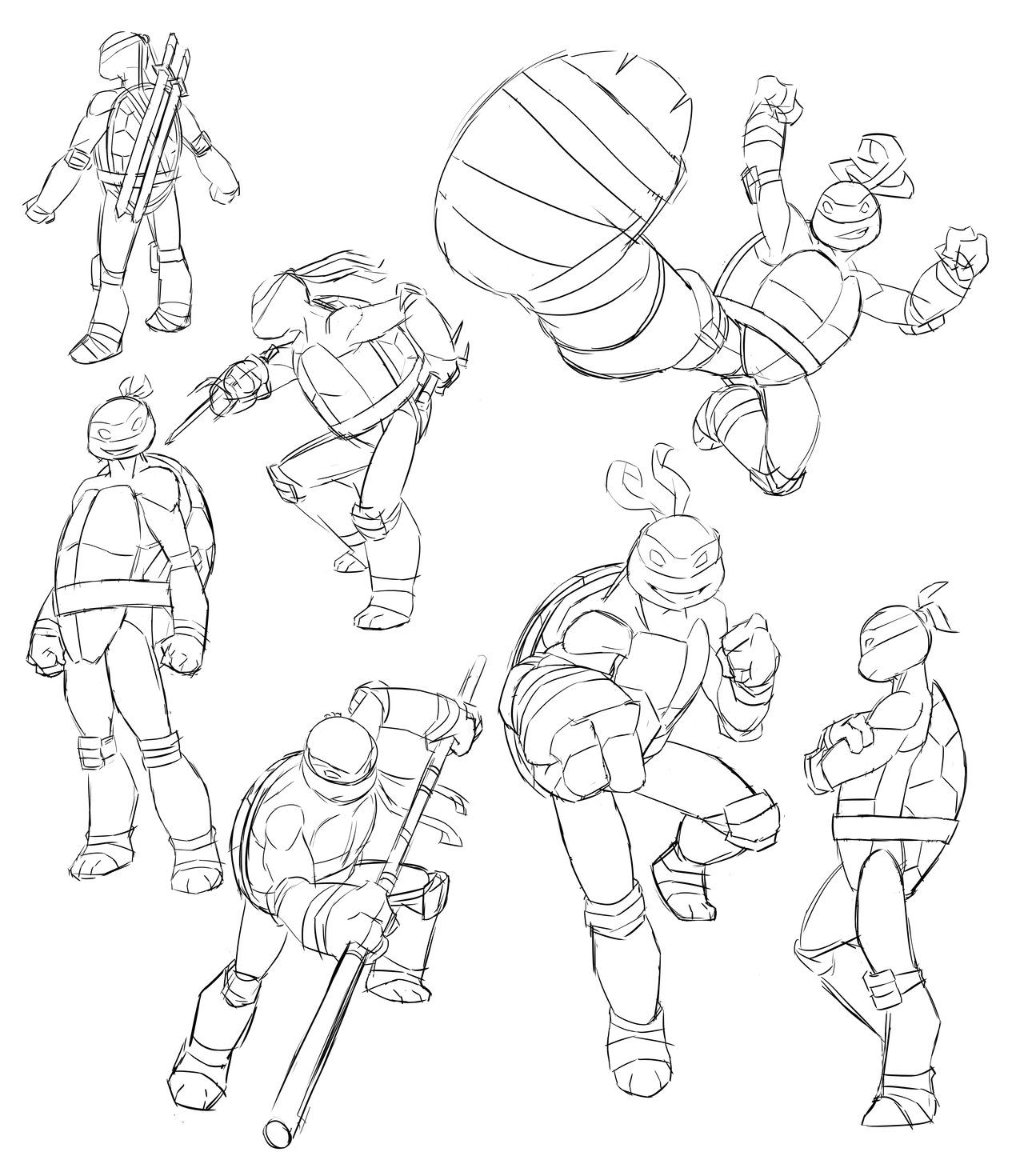1280x1470 Tmnt Coloring Pages Nickelodeon Tmnt Sketches