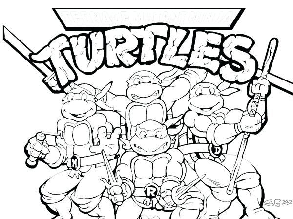600x449 Great Breathtaking Tmnt Coloring Pages Online Pictures