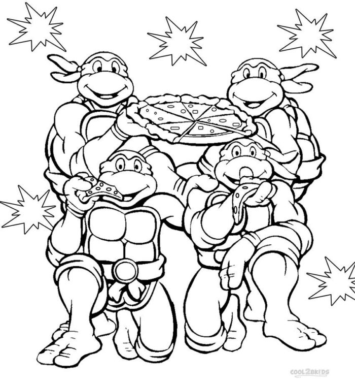 700x758 Tmnt Coloring Page Funycoloring Tmnt Coloring Page