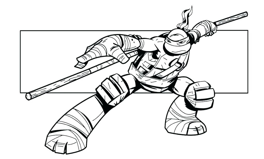 1024x617 Teenage Mutant Ninja Turtles Donatello Coloring Pages Mutant Ninja