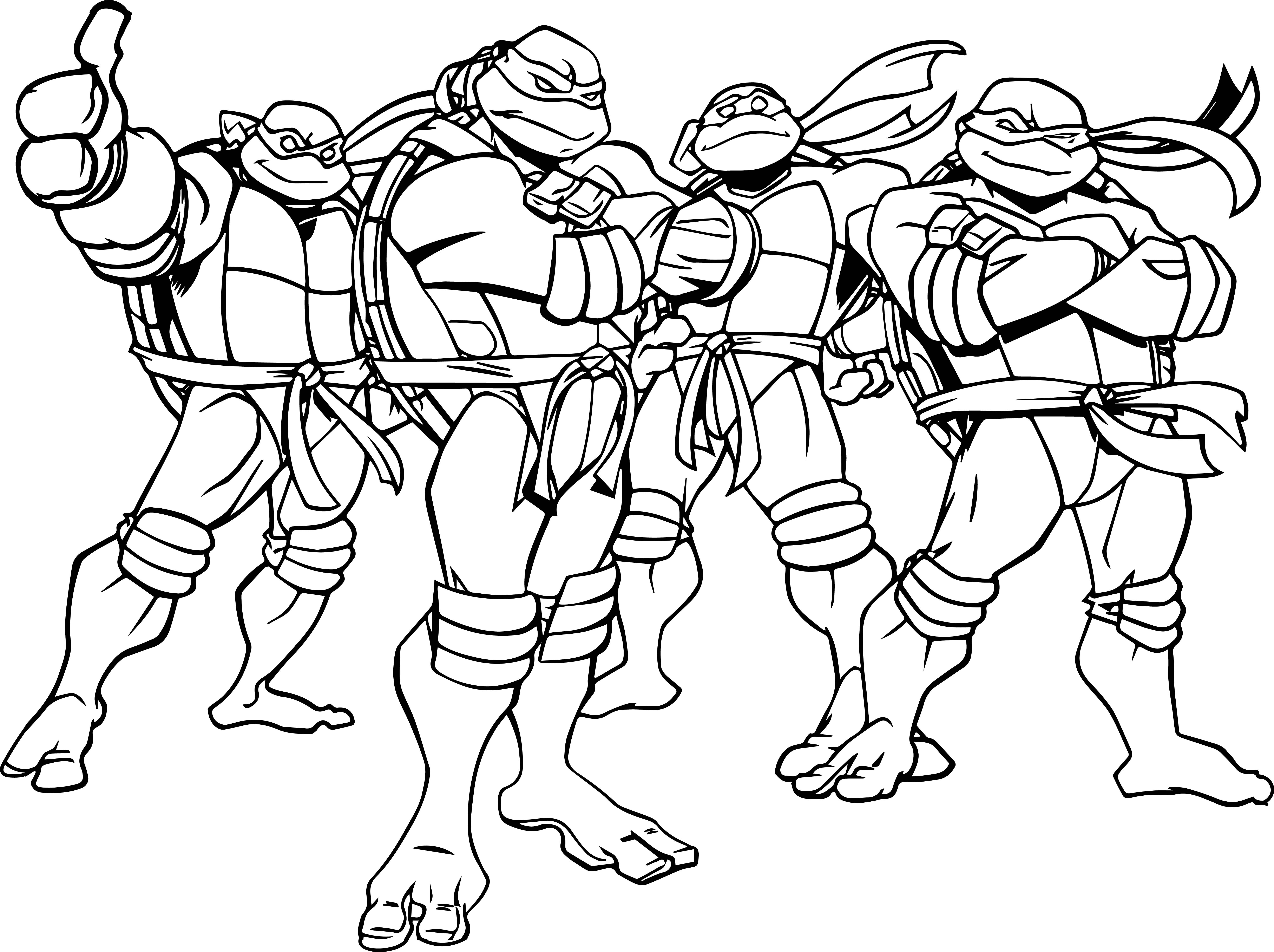 6176x4614 Popular Ninja Turtles Coloring Sheets Tmnt Pages Lineart