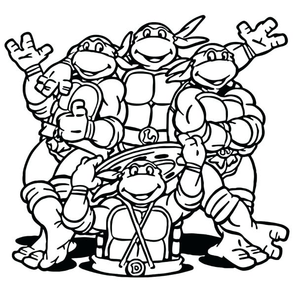 600x600 Ninja Turtles Printable Coloring Pages Terest Nickelodeon Teenage