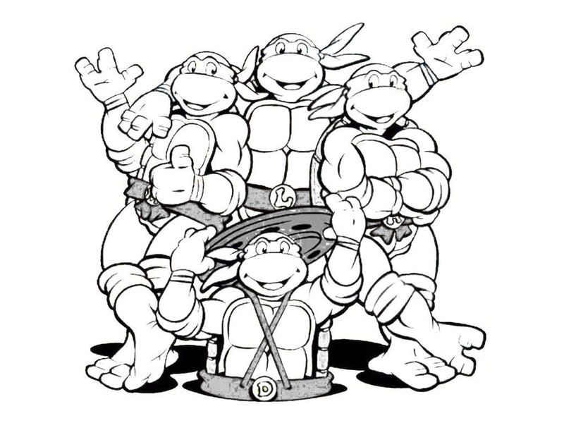 800x600 Ninja Turtles Printable Coloring Pages Teenage Mutant Ninja