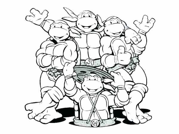 600x450 Printable Turtle Coloring Pages Popular Teenage Mutant Ninja