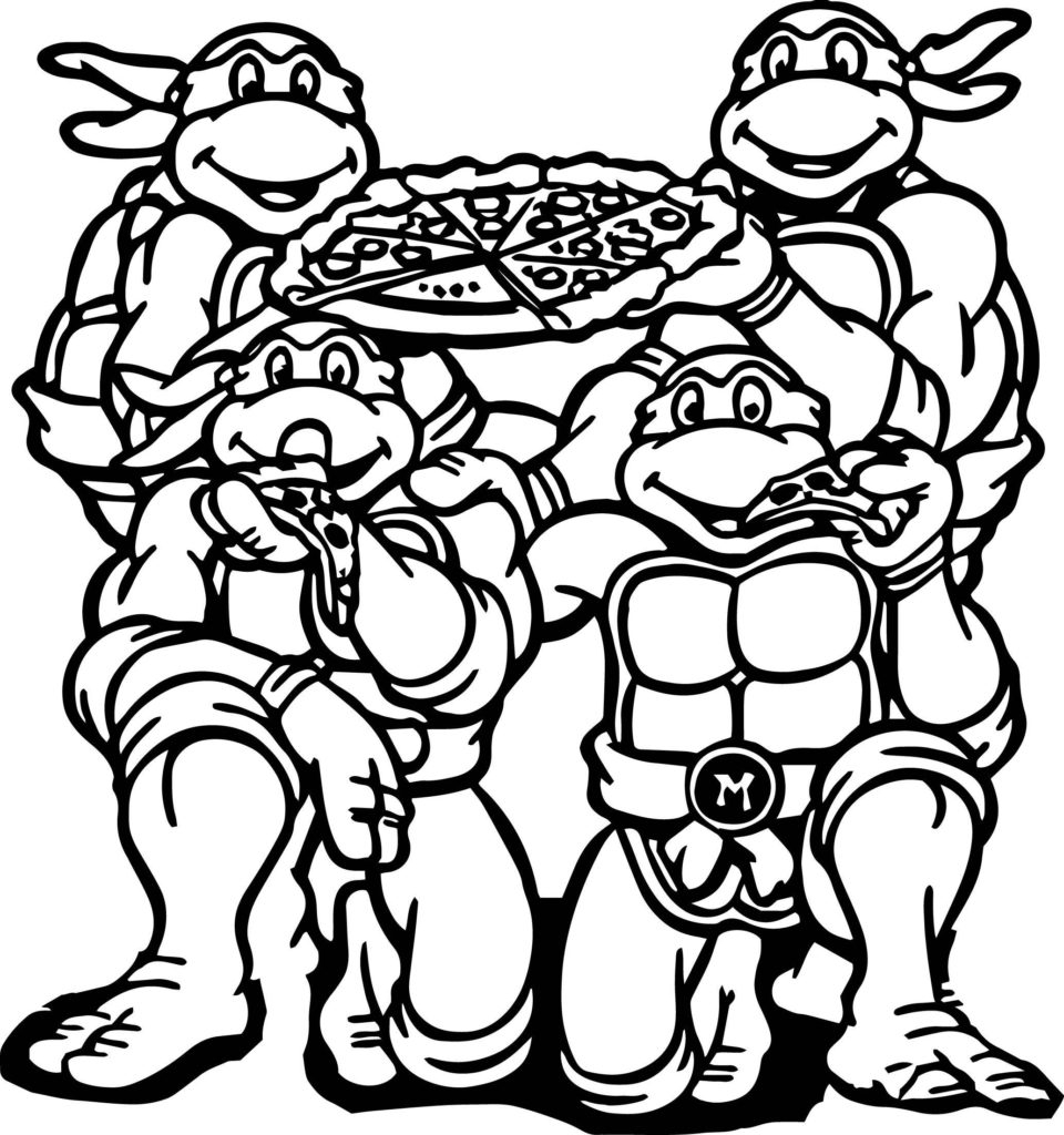 960x1024 Teenage Mutant Ninja Turtles Colouring Pages Collection