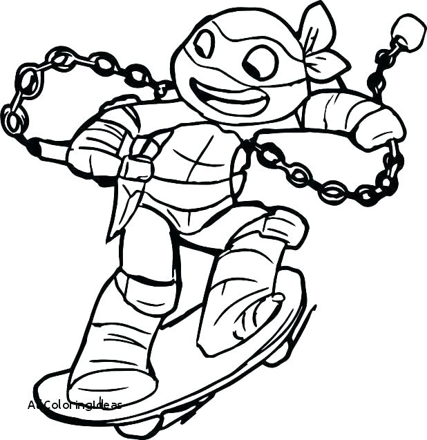 618x637 Teenage Mutant Ninja Turtles Free Printable Coloring Pages Turtle