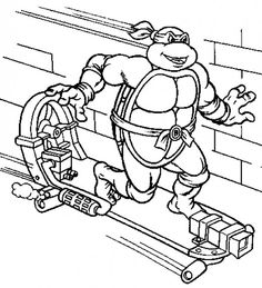 236x259 Teenage Mutant Ninja Turtles Printable Coloring Pages Ninja