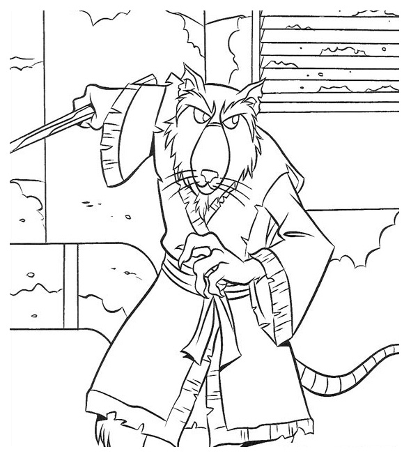 590x654 Teenage Mutant Ninja Turtles Shredder Coloring Pages Ninja Turtles