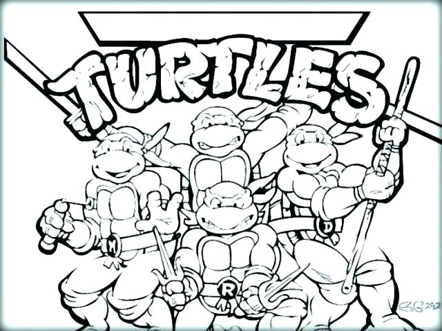 640x479 Free Printable Coloring Pages Teenage Mutant Ninja Turtles